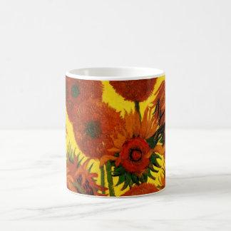 Mug Beaux-arts de Van Gogh, vase avec 15 tournesols