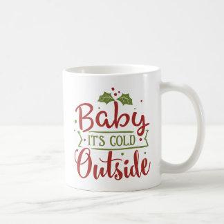 Mug Bébé c'est Noël extérieur froid |