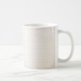 Mug Beige d'or simple classique de Taupe d'impression