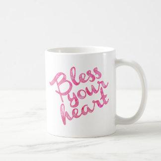Mug Bénissez votre étincelle de rose de coeur
