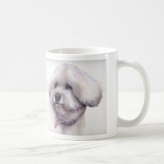 Mug Bichon Frise dans l'aquarelle avec l'information