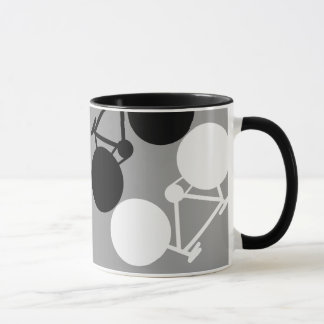 Mug bicyclettes contrastantes graphiques