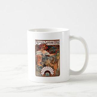 Mug Biscuits Lefevre Utile par Alphonse Mucha