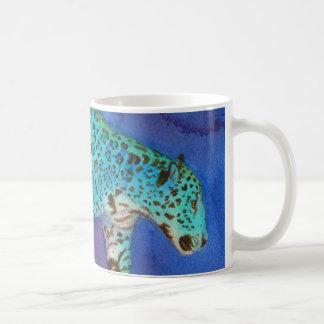 Mug Bleu de égrappage Jaguar d'imaginaire