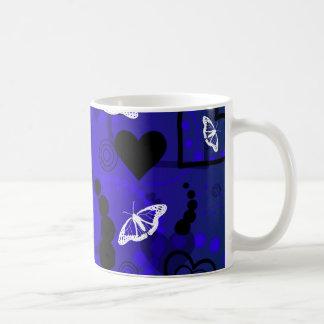 Mug Bleu glacier abstrait de sphère de papillon