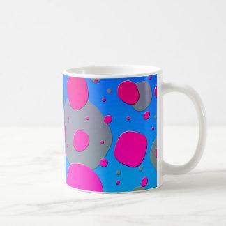 Mug Bleu impair de rose de conception d'art moderne de