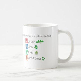 Mug Blocs constitutifs pour une salade paisible de