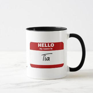 Mug Bonjour mon nom est Tia (rouge)