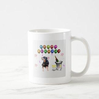 Mug Bonne année de chien de rottweiler