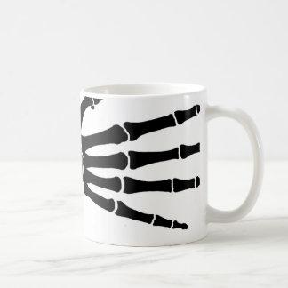 Mug bonne bonne main squelettique