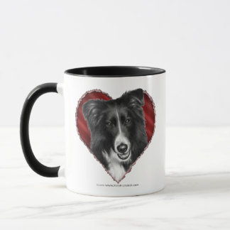 Mug Border collie avec le coeur