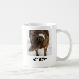 Mug Border collie dans la neige