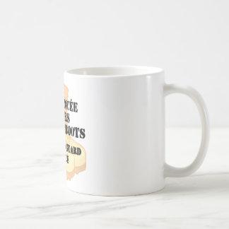 Mug Bottes de combat de désert de fiancé de garde
