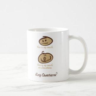Mug Bouche sur le chocolat
