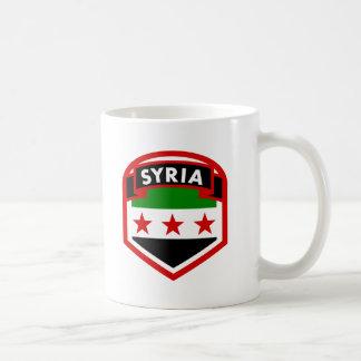 Mug Bouclier de crête de drapeau de la Syrie