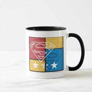 Mug Bouclier de Superman avec des étoiles