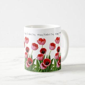 Mug Bouquet rose de tulipe de ressort pour le jour de