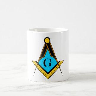 Mug Boussole de carré de symbole de franc-maçon de