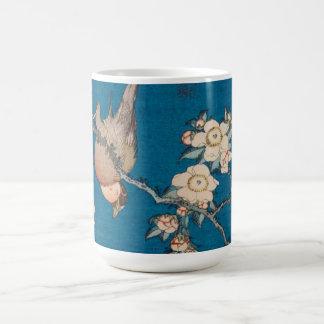 Mug Bouvreuil et cerise pleurante GalleryHD de Hokusai
