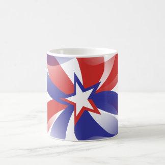 Mug Brillez-moi conception patriotique