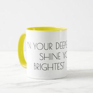 Mug Brillez votre texte léger, motivation inspirée