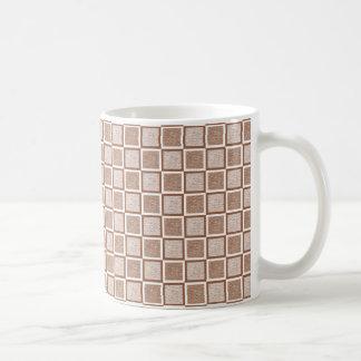 Mug Brown statique et carrés blancs