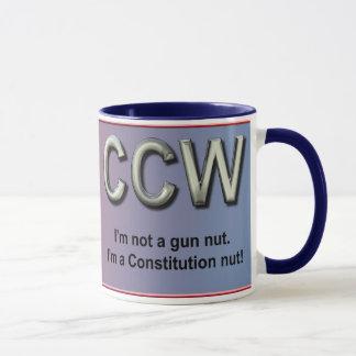 Mug Caché portez et la constitution