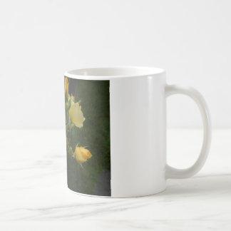 Mug cadeau rustique floral gor de boho de roses jaunes