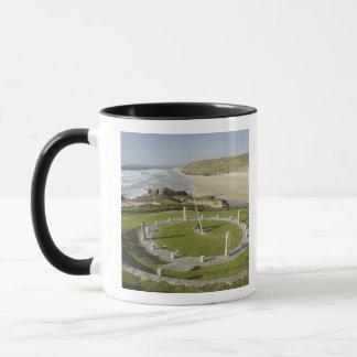 Mug Cadran solaire et plage de Perran, Perranporth,