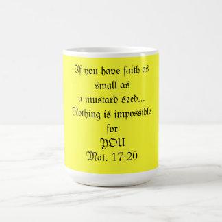 Mug Café MU, foi d'une graine de moutarde
