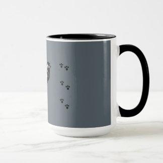 Mug Caféine noire Kitty de smoking