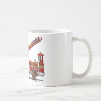 Mug Camion de pompiers de crochet et d'échelle