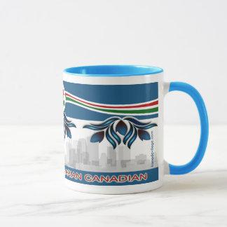 """Mug """"Canadien hongrois"""" avec des motifs de fleur"""