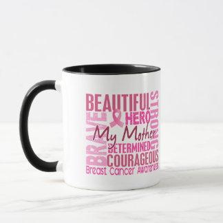 Mug Cancer du sein carré de mère d'hommage
