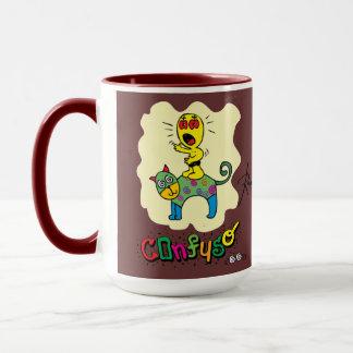 Mug Caneca-Gato-Confuso