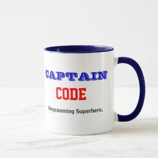 Mug Capitaine Code Programming Superhero Programmer