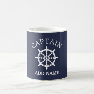 Mug Capitaine de bateau (personnalisez Name de