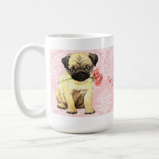 Mug Carlin rose de Valentine
