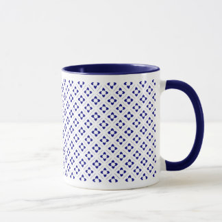 Mug Carré de Lotus de bleu marine