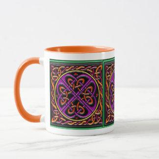Mug Carré en céramique celtique pourpre