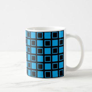 Mug Carrés noirs et bleus