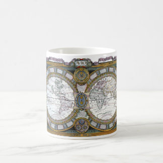 Mug Carte antique du monde par Claude Auguste Berey,