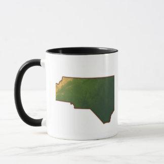 Mug Carte de la Caroline du Nord 2