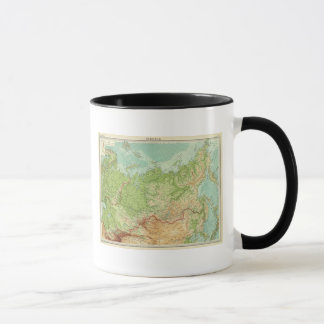 Mug Carte de la Sibérie avec des itinéraires