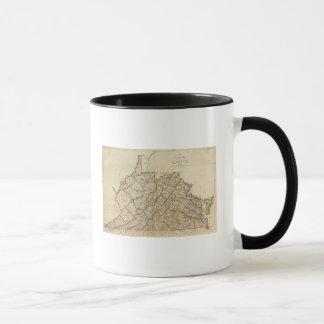 Mug Carte de la Virginie