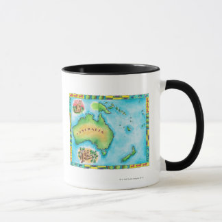 Mug Carte de l'Australie