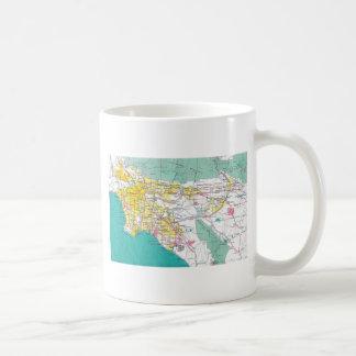 Mug Carte de Los Angeles