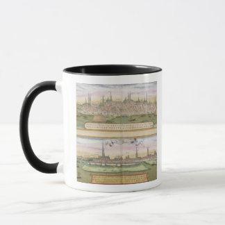 Mug Carte de Lübeck et de Hambourg, de 'Civitates
