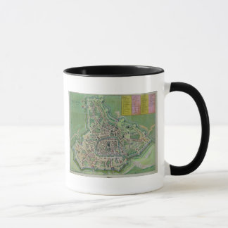 "Mug Carte de Padoue, de ""Civitates Orbis Terrarum"" par"