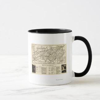 Mug Carte de parc national de Great Smoky Mountains